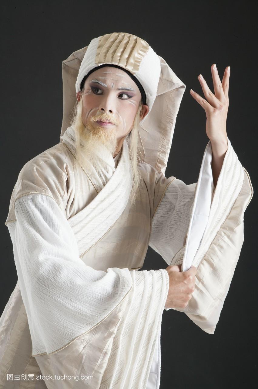 影像,真人,中国,亚洲,只有成人,戏服,一个人,舞台妆,头饰,古装,假发图片