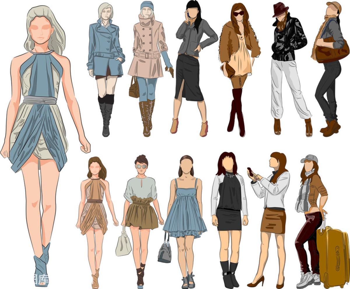 裙子,商店,设计,时尚,矢量图,外套,外衣,销售,性感,眼镜,衣服,样式图片