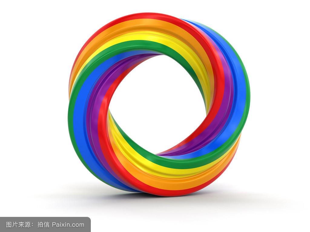 环�9c.��fz���d_彩色扭环.具有裁剪路径的图像