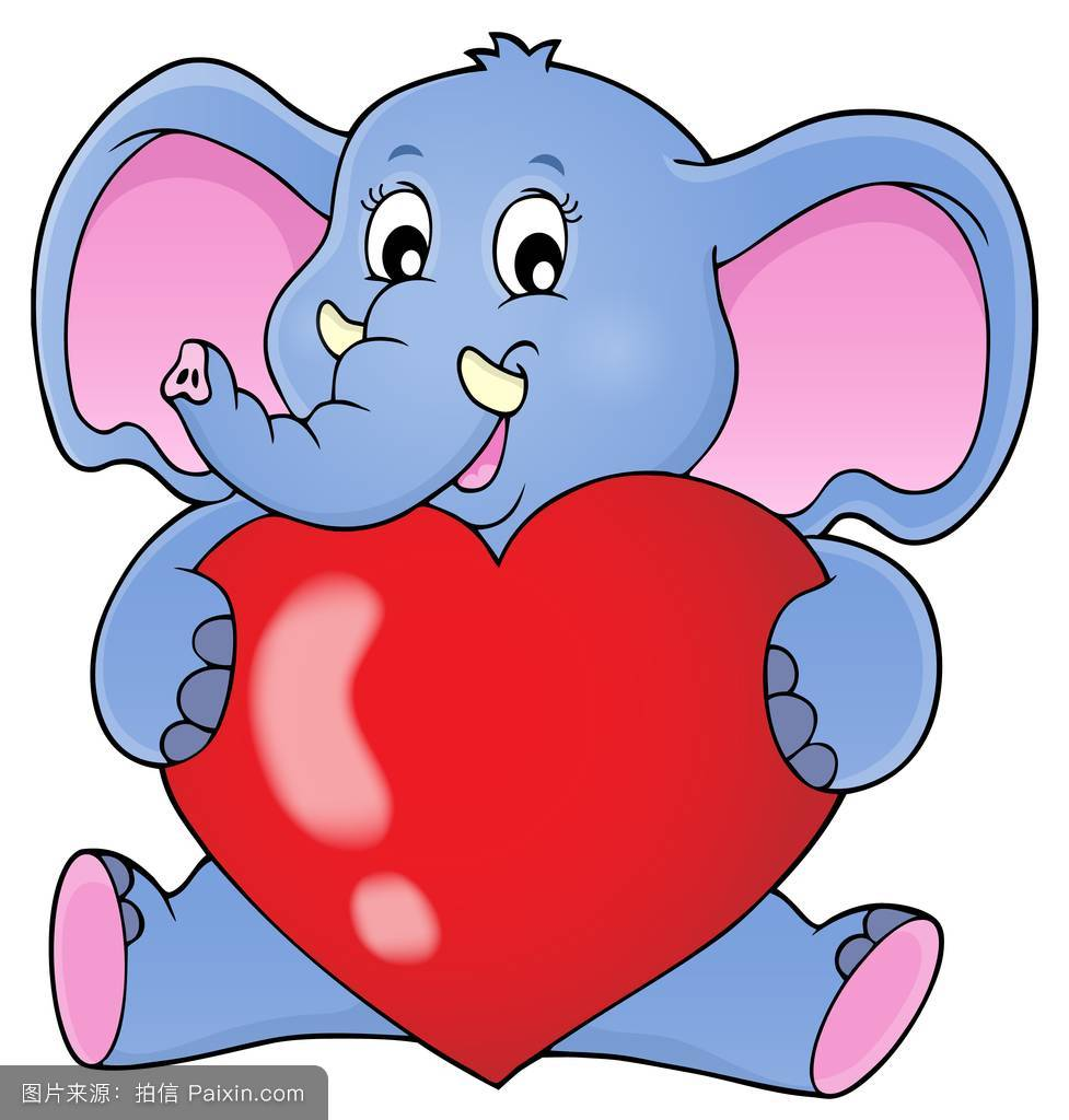 大象抱着心脏主题图片1