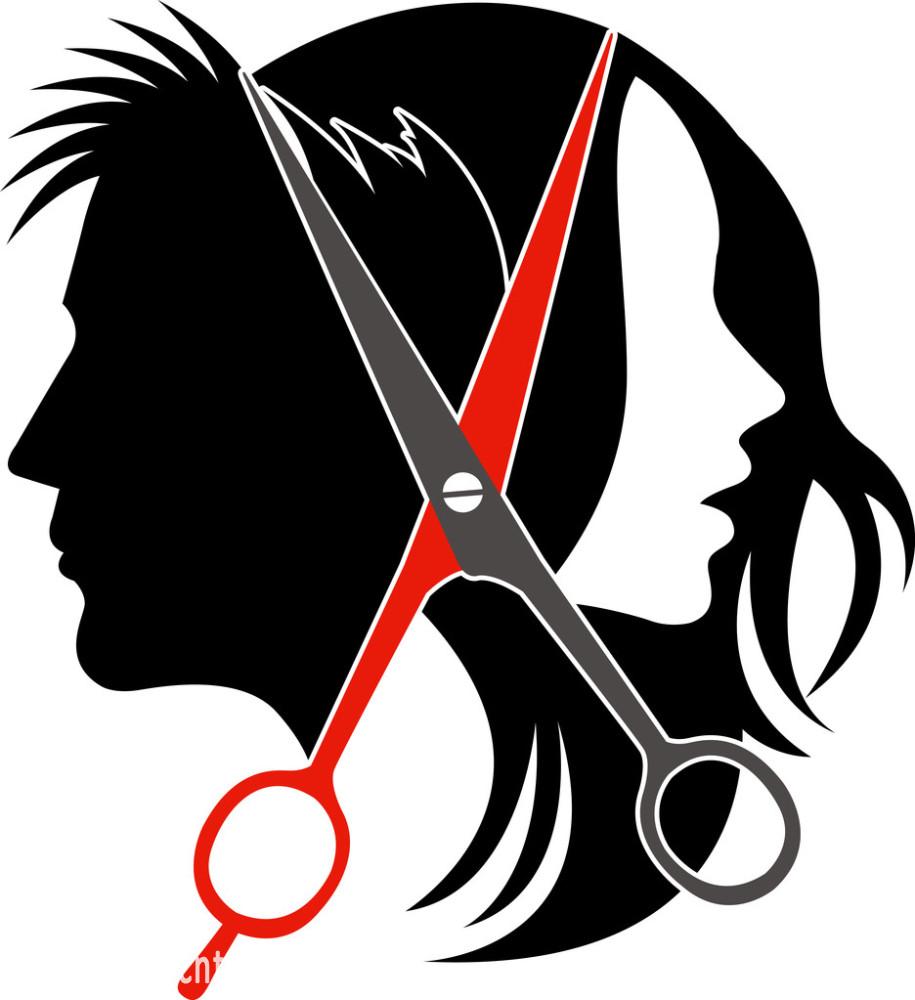 理发师,轮廓,美发师,美容师,男人,切断,设计,矢量图,现代,形状,艺术图片