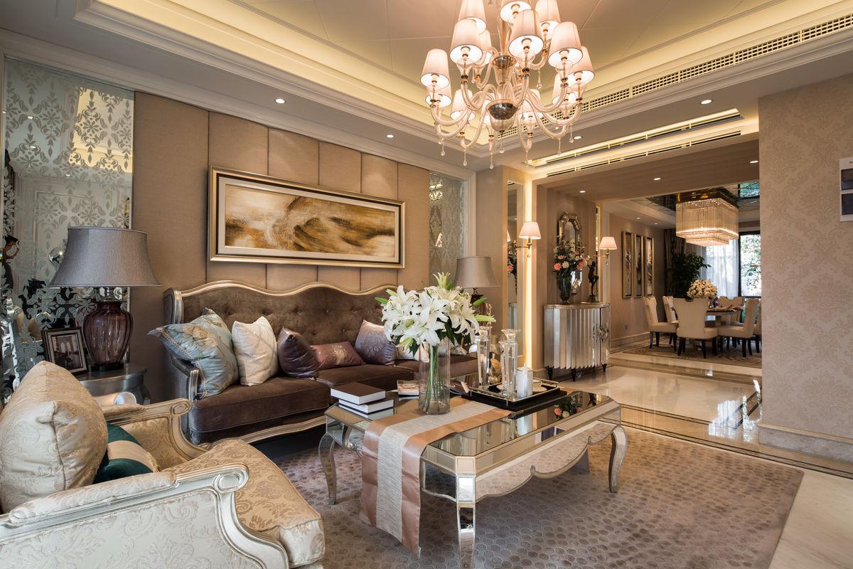 家装设计,住宅装修,装饰设计,家装客厅,布艺沙发,欧式客厅,样板房图片