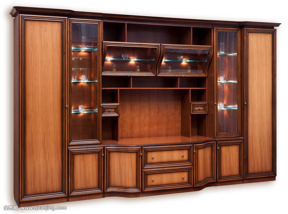 ��.�9��yl!9쮙�n�J_橱n :j 槹  9 木质,柜橱,玻璃门,隔绝,白色背景