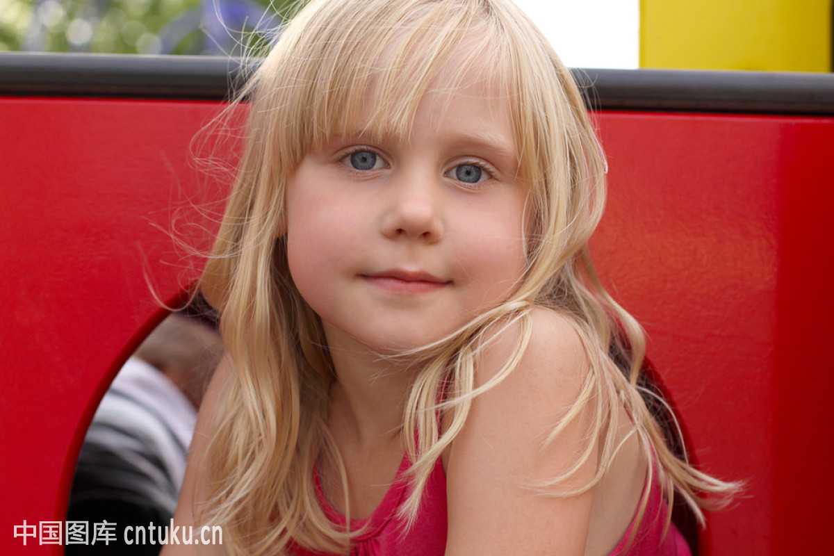 长的,都市风光,户外,健康生活方式,金色头发,看,快乐,蓝色,女孩,女性图片