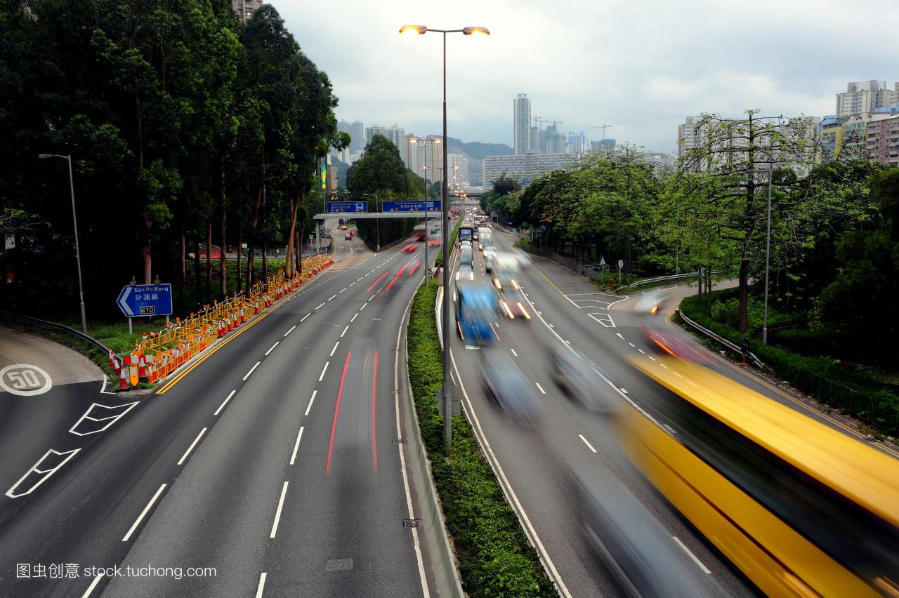 路�_交通,高速公路,中国,全球,高速路,亮光,公路,光,城区,傍晚,动作,商行