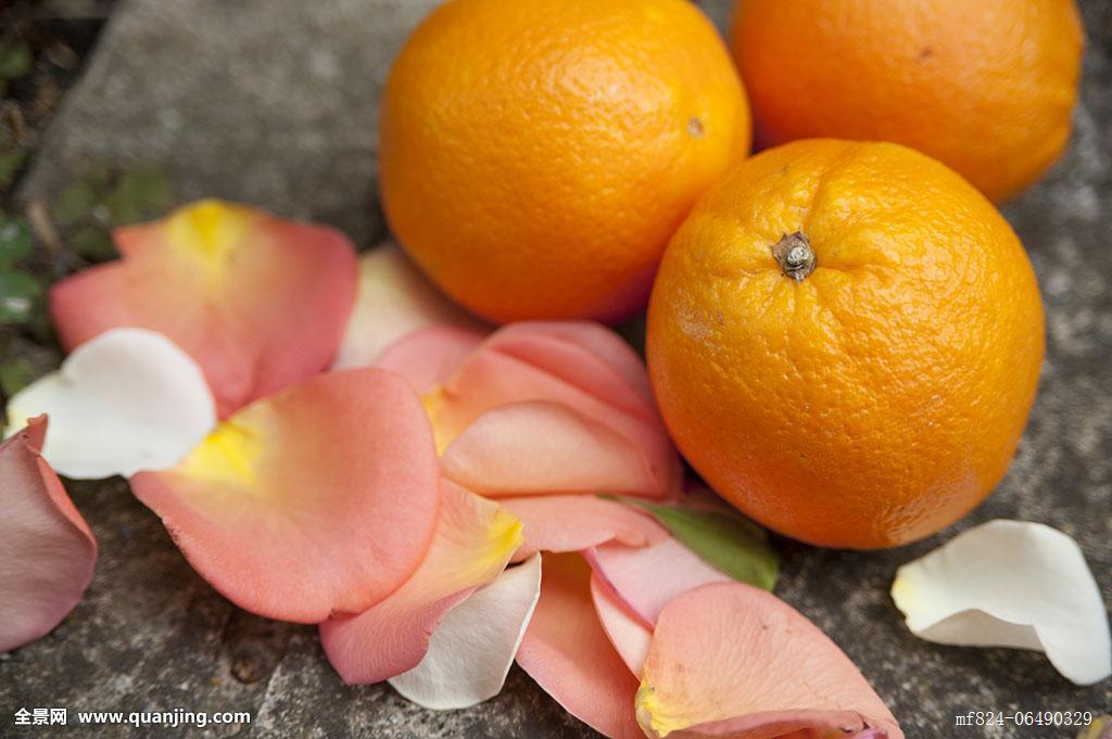 橘子与花花瓣摩洛哥
