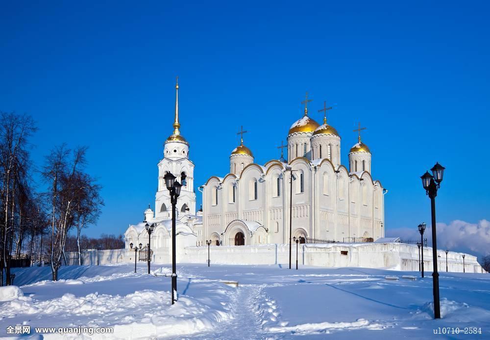 地标,老,建筑,教堂,庙宇,宗教,基督教,冬天,雪,历史,东正教,著名,欧洲图片