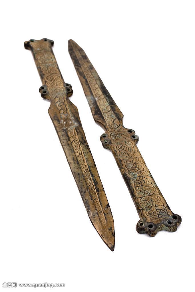 美术工艺,艺术品,装饰品,雕刻,剑,宝剑,两个,两个物体,文化遗产,古代图片