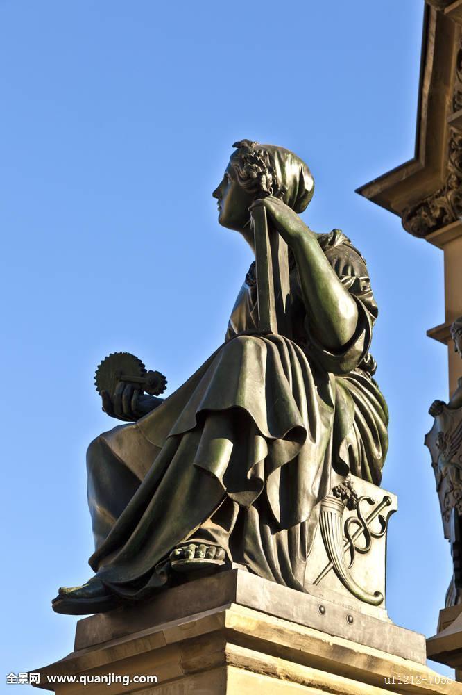 雕塑,约翰尼斯-古腾堡,发明家,书本,法兰克福,德国图片