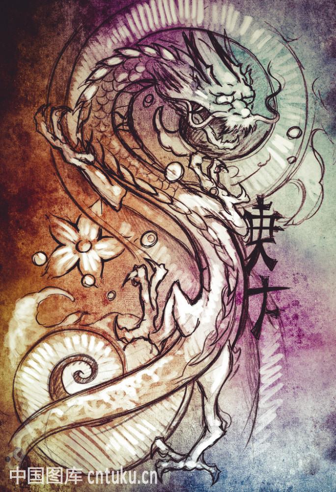 仙女托蛋纹身手稿分享展示图片