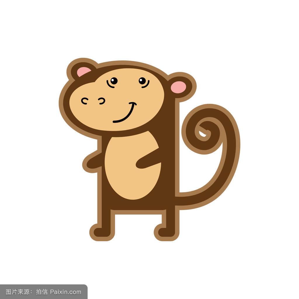 画猴子用什么颜色_卡通,商店,标志,性格,自然,猴子,丛林,幸福的,分离,可爱的,中心,白色