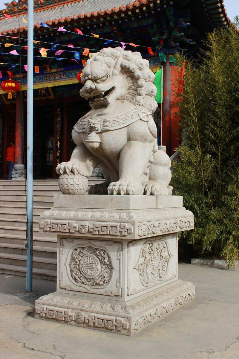 石狮子高清摄影图片