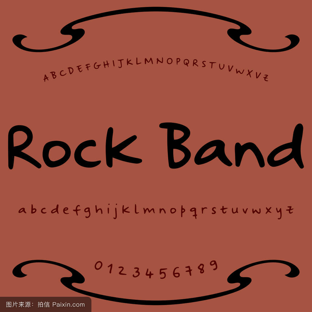 字体字体字体摇滚乐队老式字体字体标签和任何类型的设计矢量字体图片