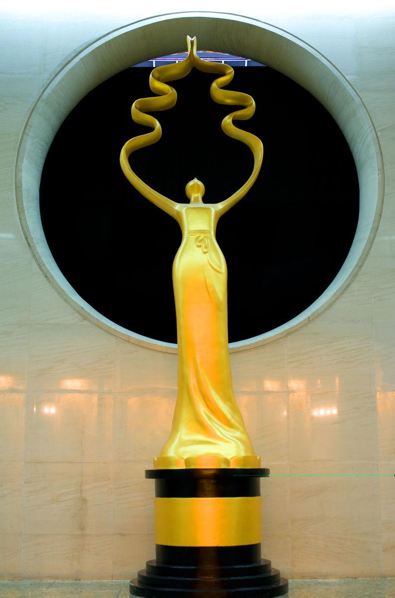 北京电影节,国际电影节,天坛奖,奖杯,雕塑,模型,仕女,汉代仕女,拂袖图片