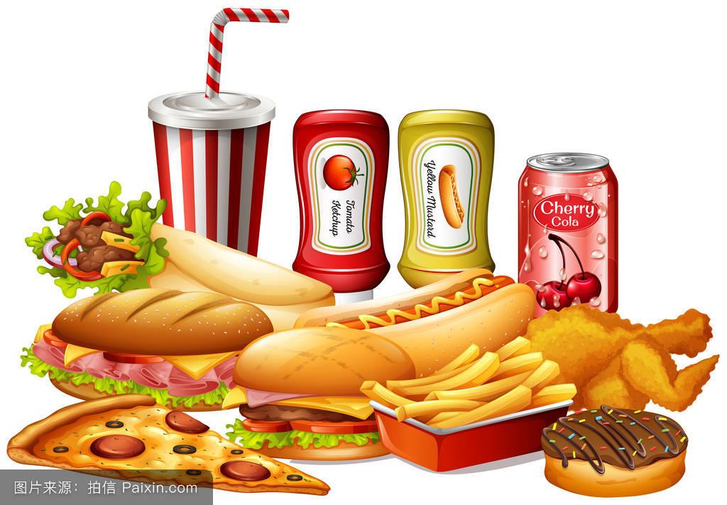 食品�zl�9��9�+_不同种类的快餐