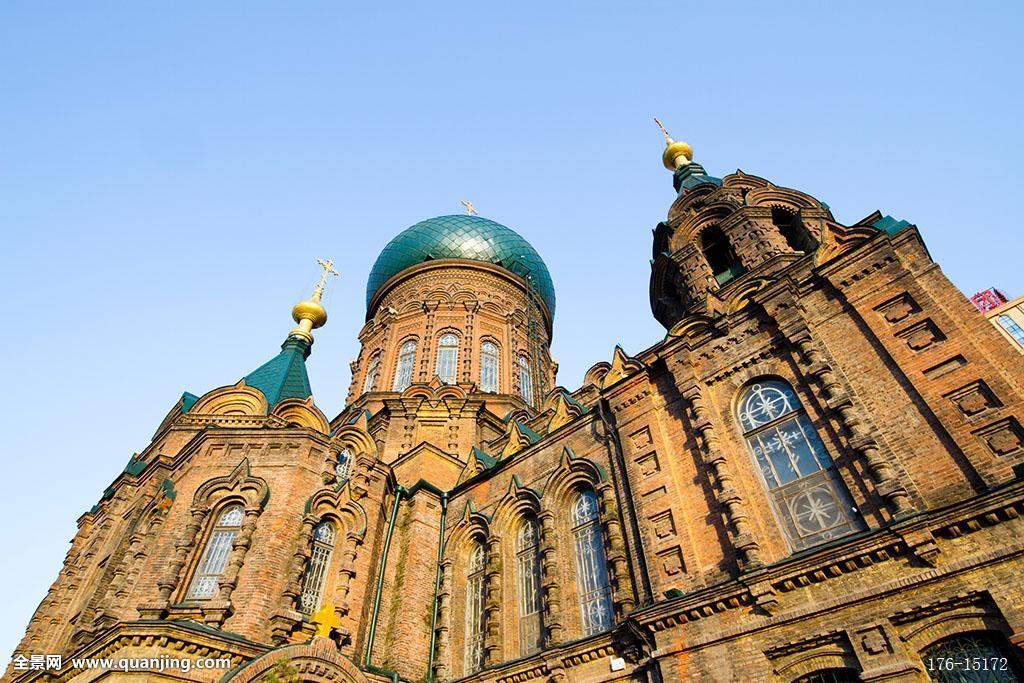 索菲亚,教堂,大教堂,商业区,巴洛克式,艺术,保护,遗产,俄式,砖木结构图片