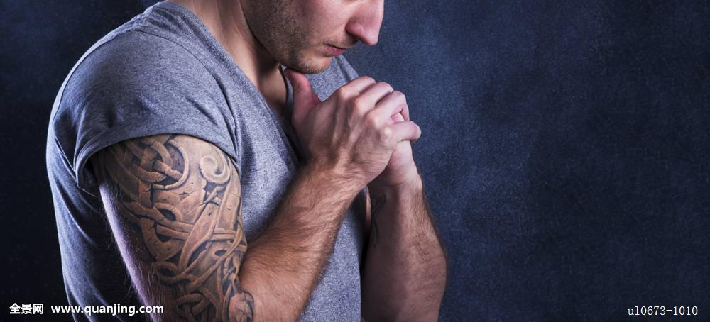 耶稣纹身手臂图案大全展示图片