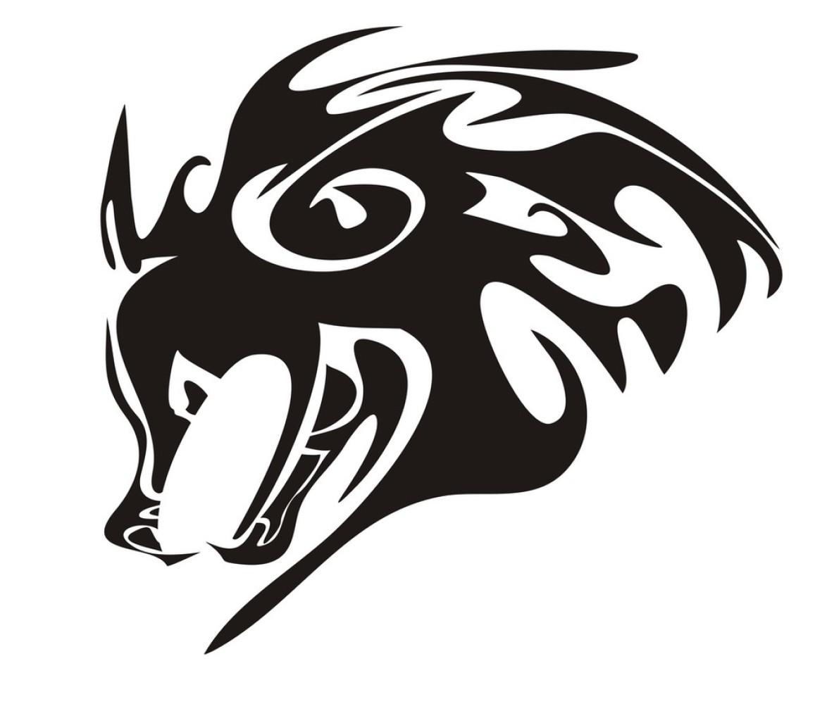 狼,犬科,设计,矢量图,铜版画,图标,纹身,野生动物,野外动物,印刷,装饰图片
