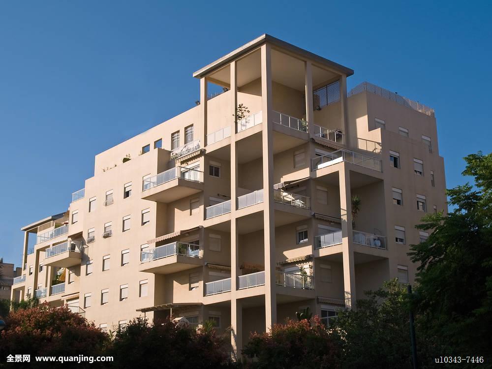 公寓,户外,建筑,城市,天空,建造,现代,彩色,室外,场景,住宅,图像图片