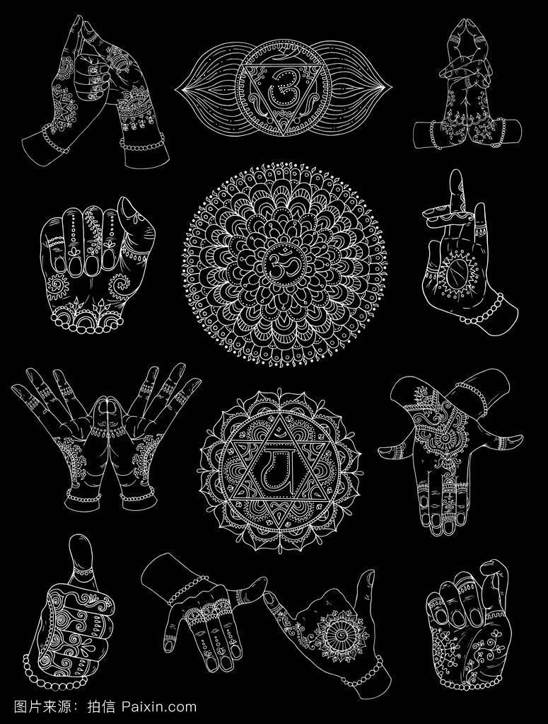 佛教 手势 纹身分享展示图片