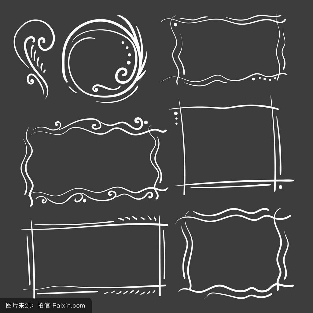 手抄报边框素材 铅笔边框图片