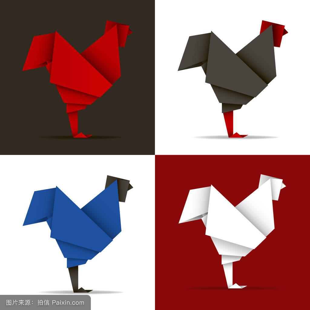 三角形的创意图形动物图片