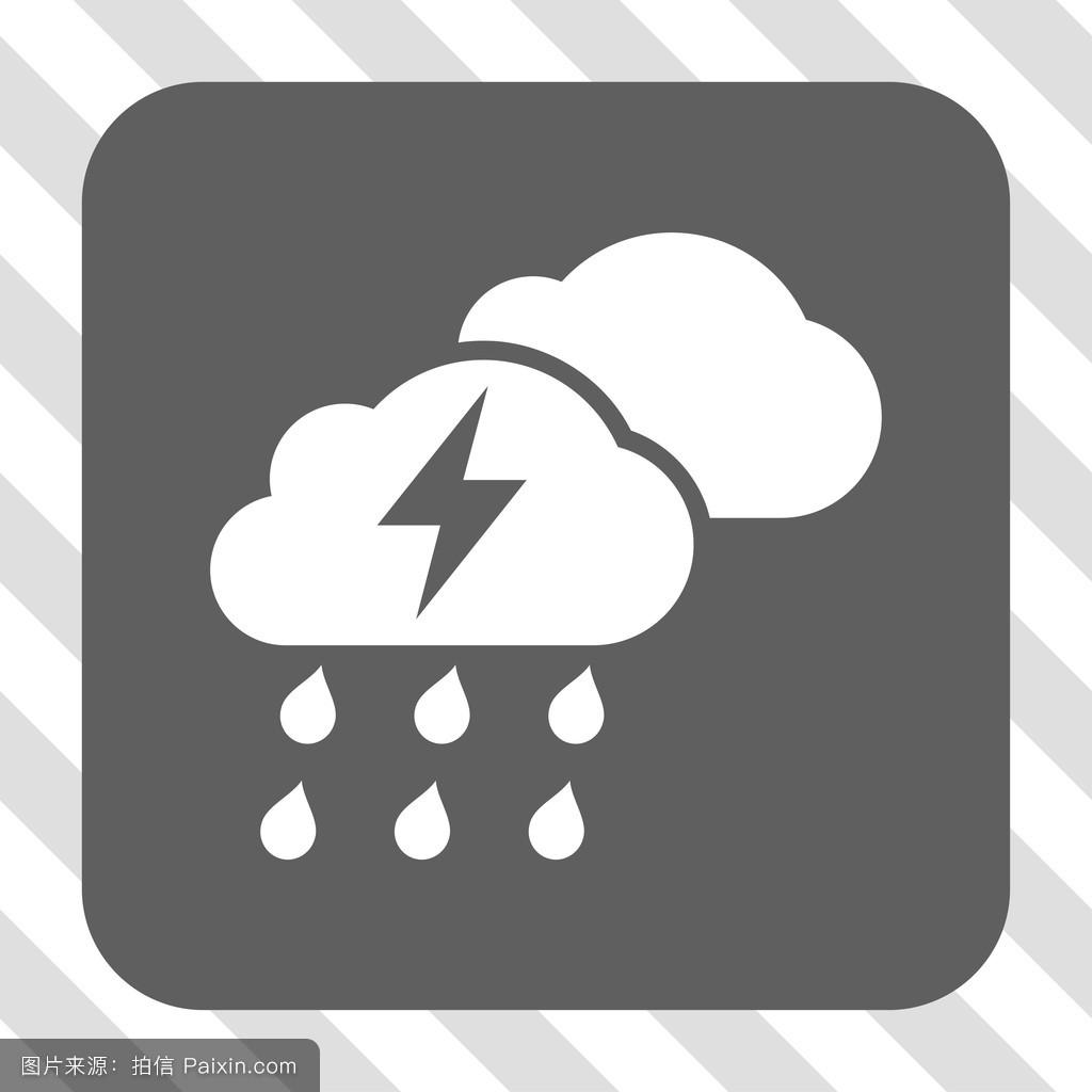 暴风雨,按钮,预测,矩形,雕文,电压,闪电,矢量图标,广场,天气预报,气象图片