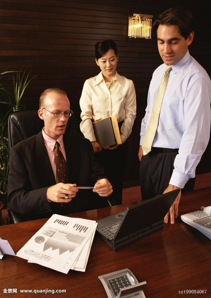 职员,管理人员,下属,亚洲人,日本人,外国人,束发,设施,办公室,衣料图片