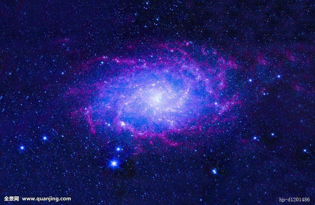 蓝色的外太空星云图片