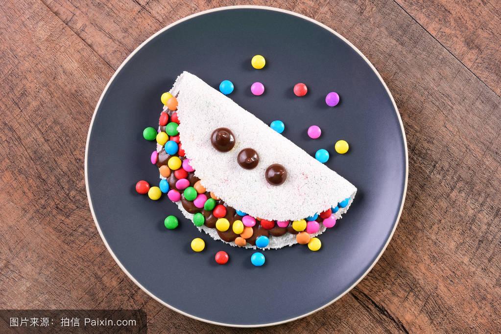 一餐巴西西北部甜点五彩纸屑热量糖木薯白色糖果甜的一