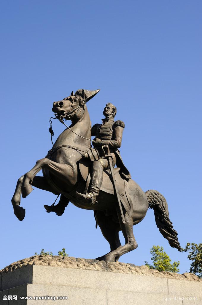 美国,路易斯安那,新奥尔良,法国区,杰克森广场,雕塑,安德鲁-杰克逊图片