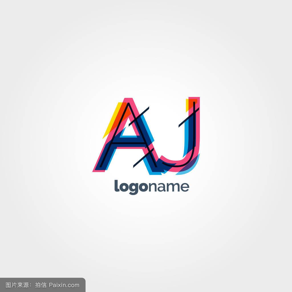 天底良�yaj:f�_aj字母logo模板