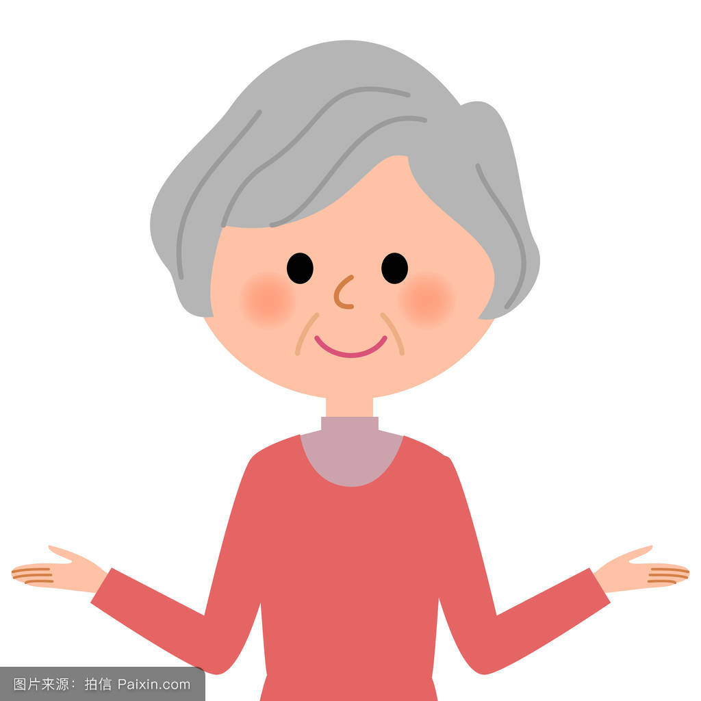 老年妇女,双手交叉图片