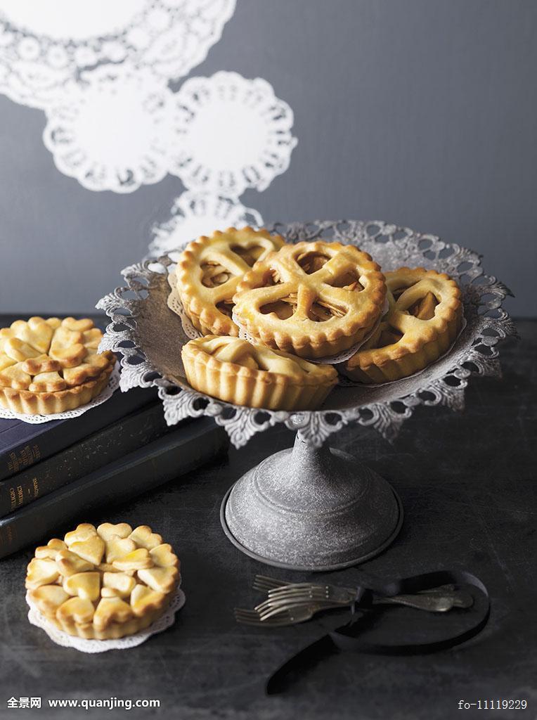 小,苹果馅饼,心形,装饰图片