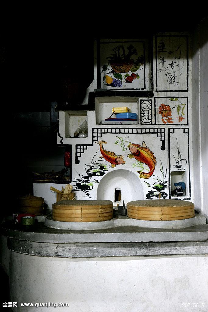 中国水乡浙江省乌镇西栅民宅厨房图片