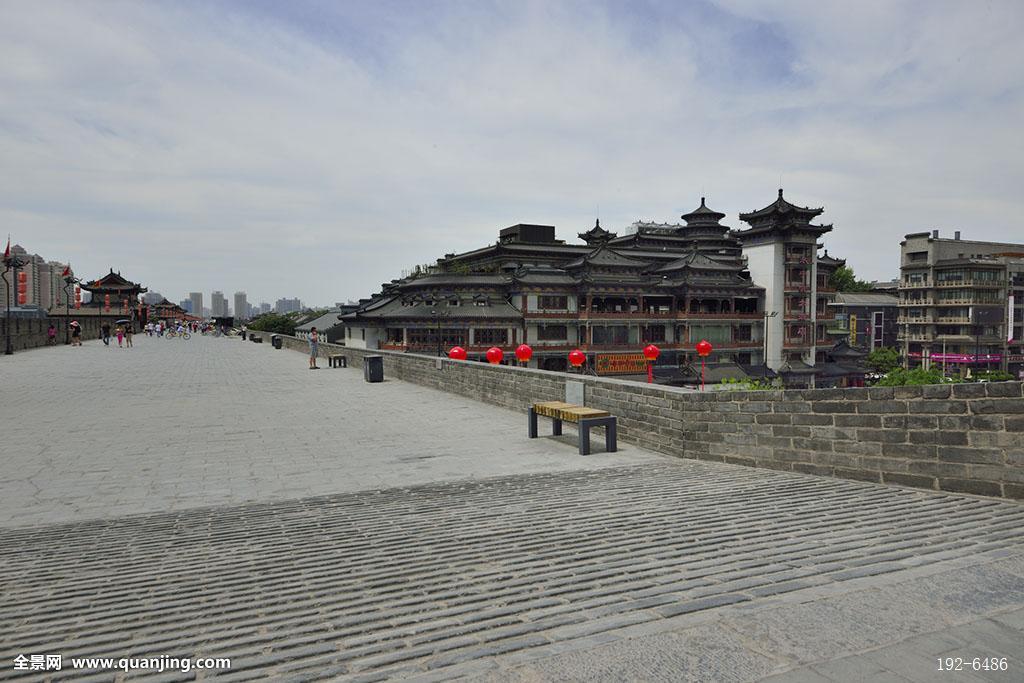 西安古城墙,古建筑图片