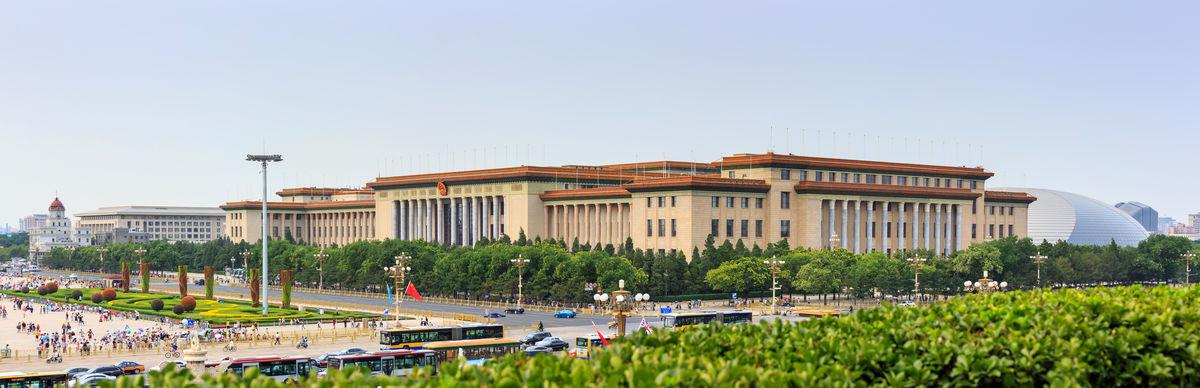国徽,大理石门柱,两会会场,北京地标,人民大会堂,北京标志建筑,中式建图片