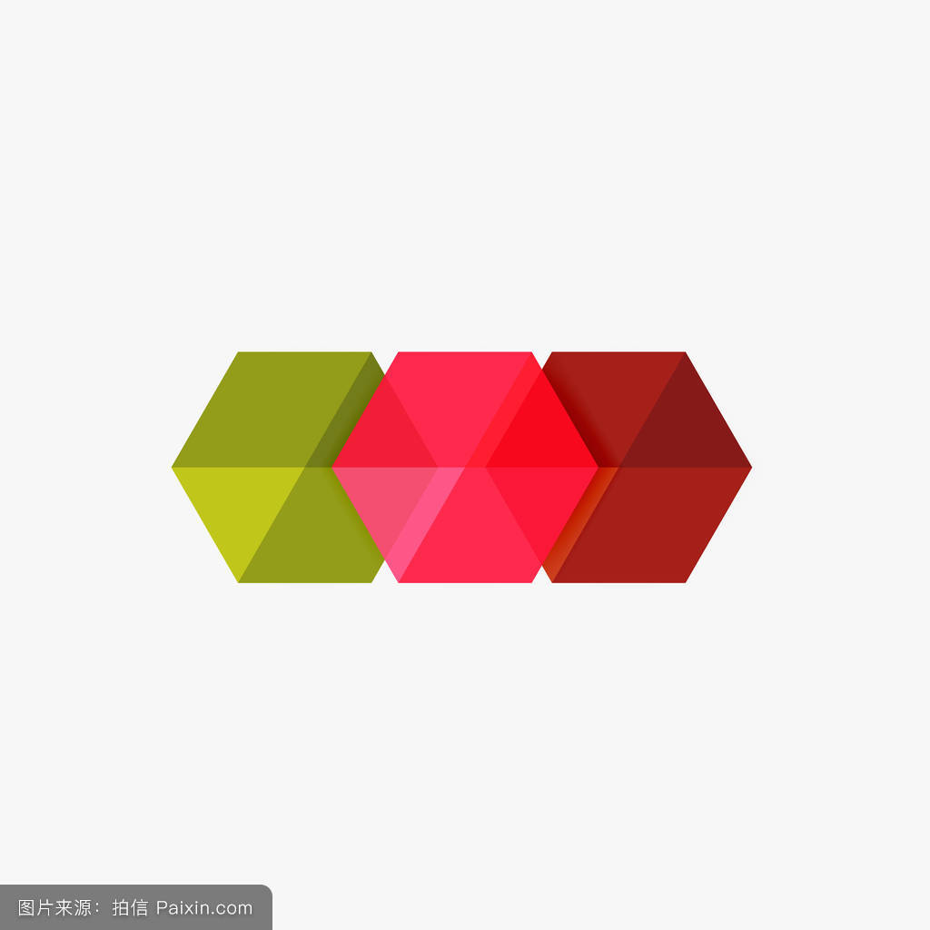 空白几何抽象业务模板,六边形布局图片