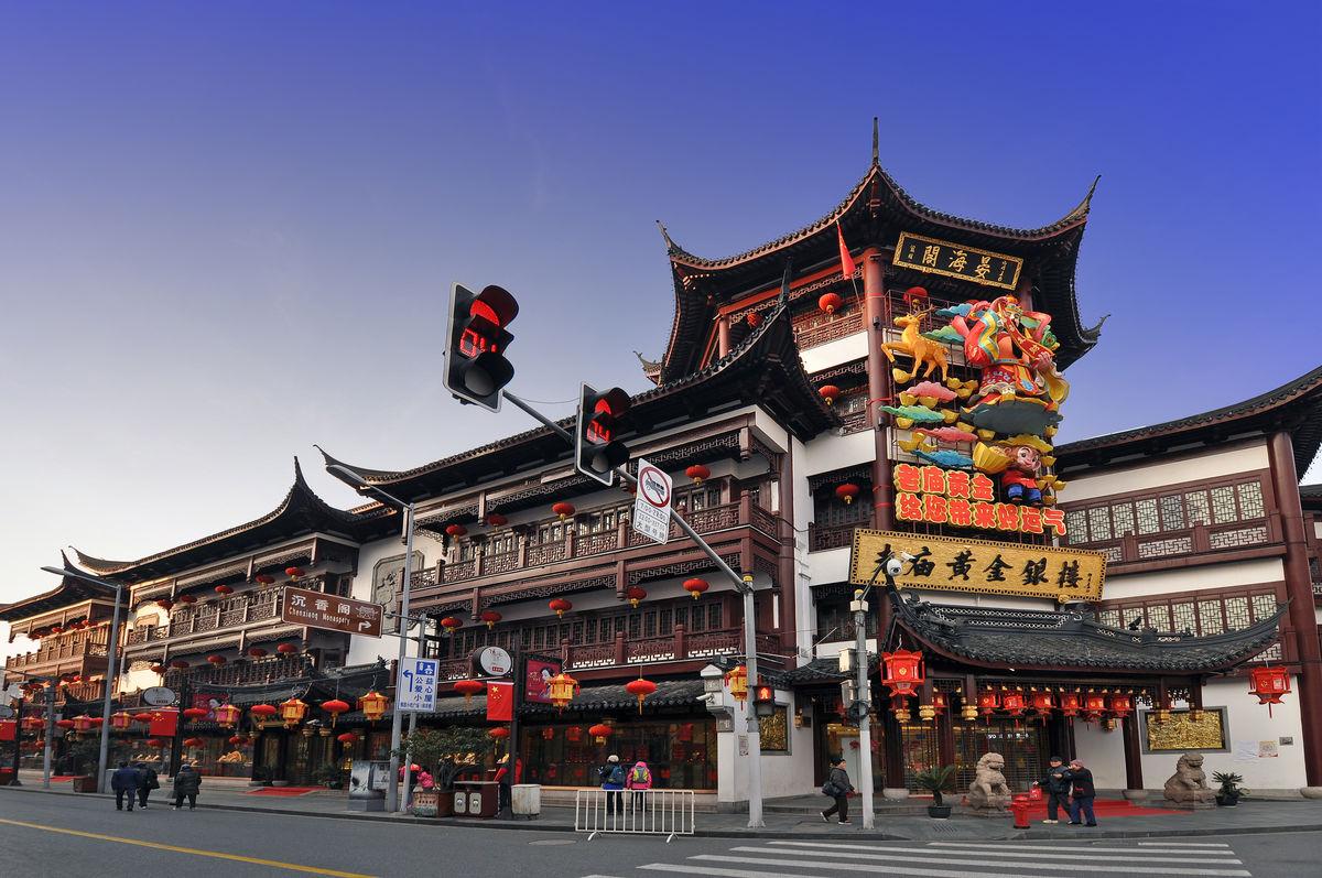 上海豫园,上海旅游,旅游景点,老街,传统建筑,古建筑群,中式建筑,上海图片