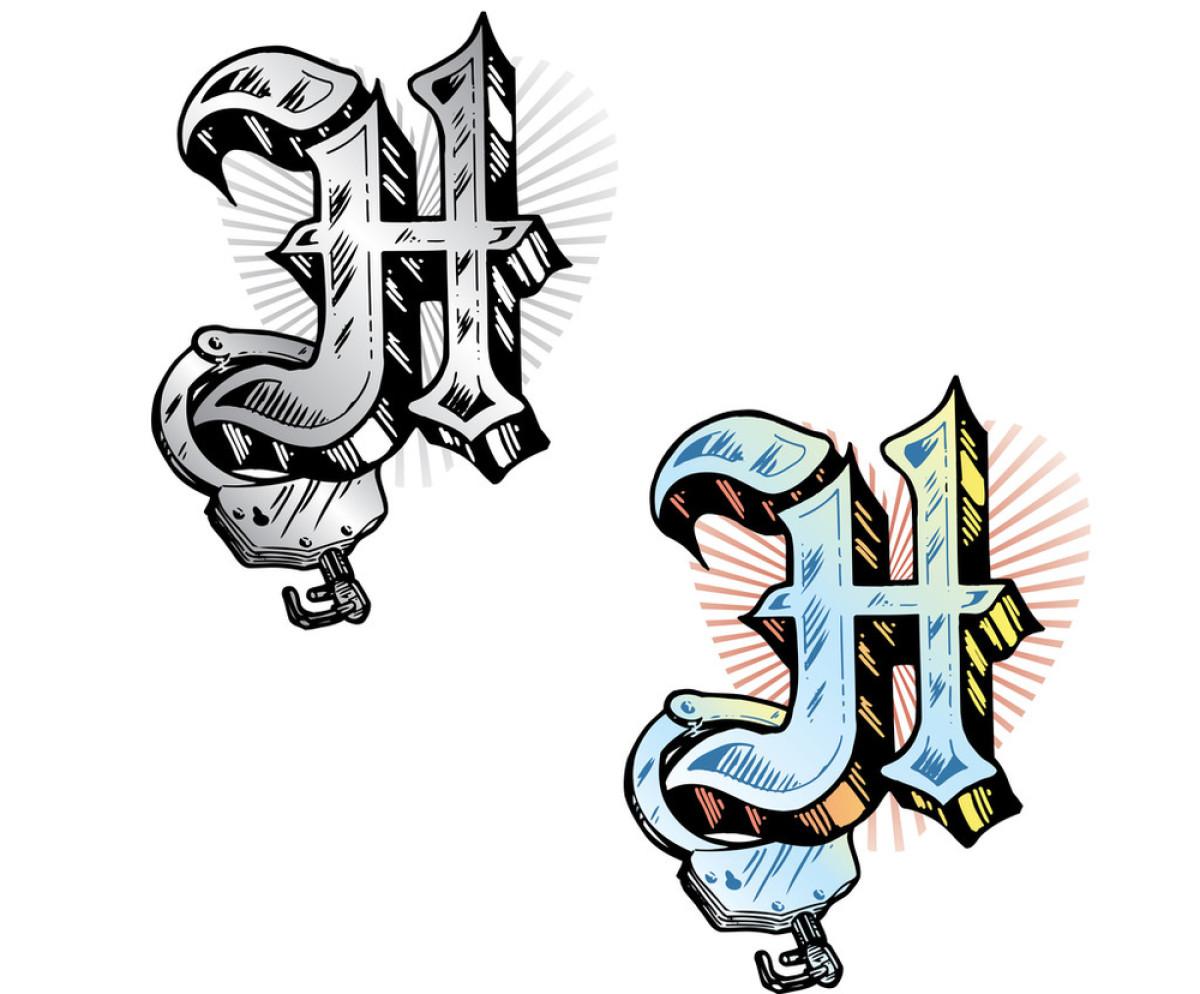 纹身风格字母h相关的符号图片图片