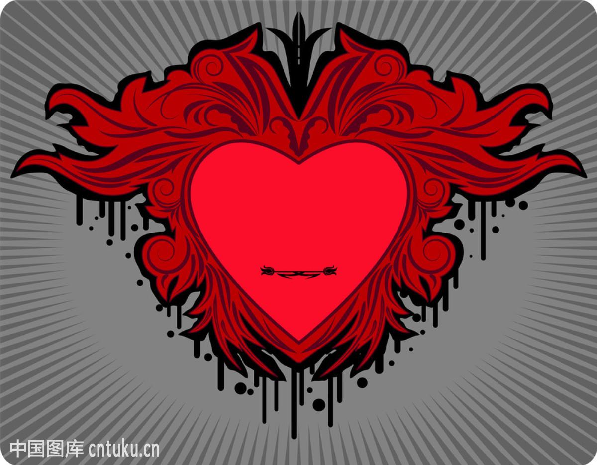 标签,抽象,黑色,花,绘画,绘画插图,情人节,庆祝,人类的心脏,设计图片