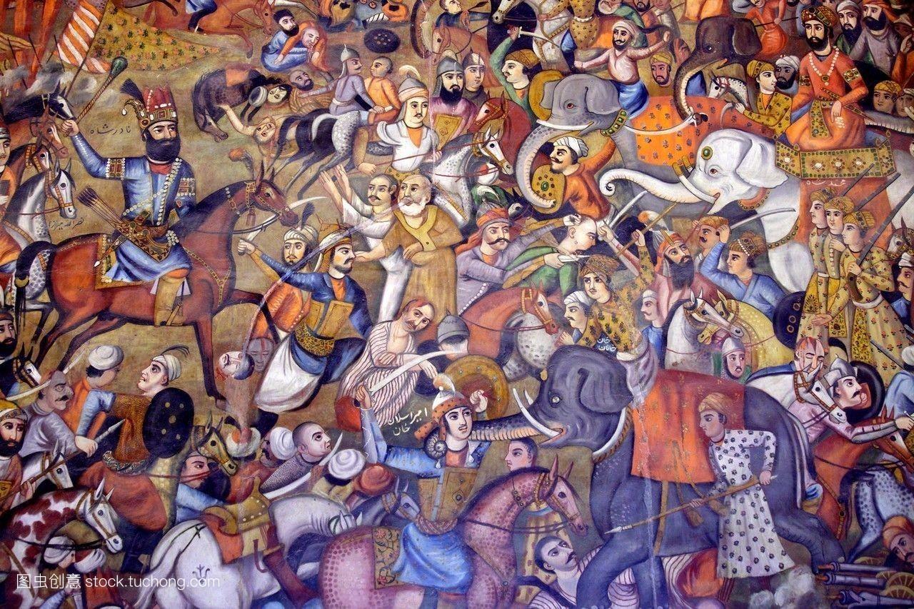 艺术,颜料,油漆,伊朗人,无人,传统,墙,宫殿,历史性,美术馆,伊斯兰教图片