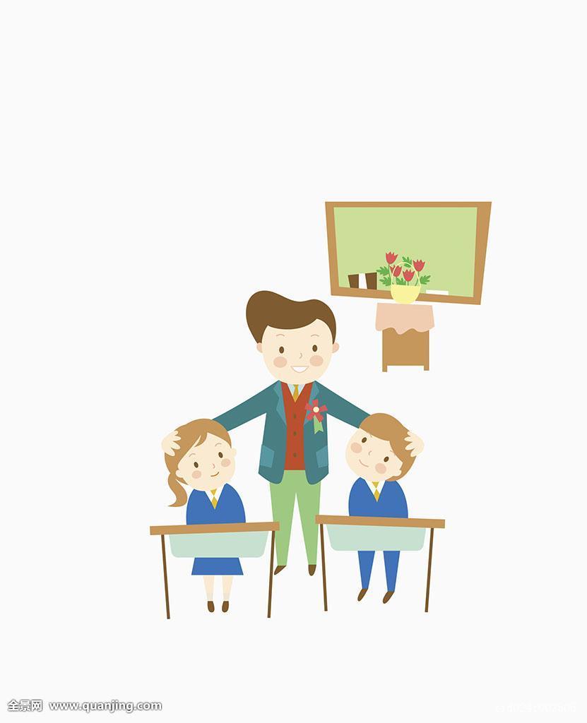 人,三个人,教师节,女性,活动,插画,愉悦,职业,青少年,概念,表情,设计图片