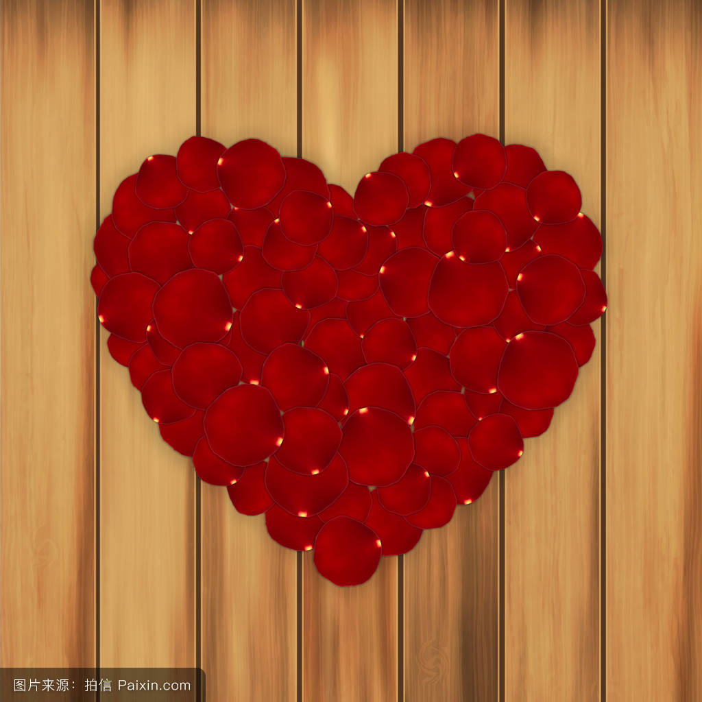 玫瑰花瓣心形图片