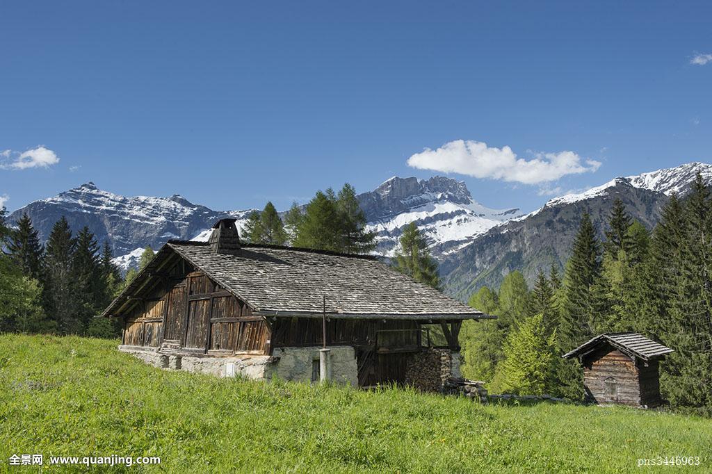 小村庄里的风流事_法国,阿尔卑斯山,上萨瓦省,勃朗峰,山丘,霞慕尼谷,防护,小村庄,背景