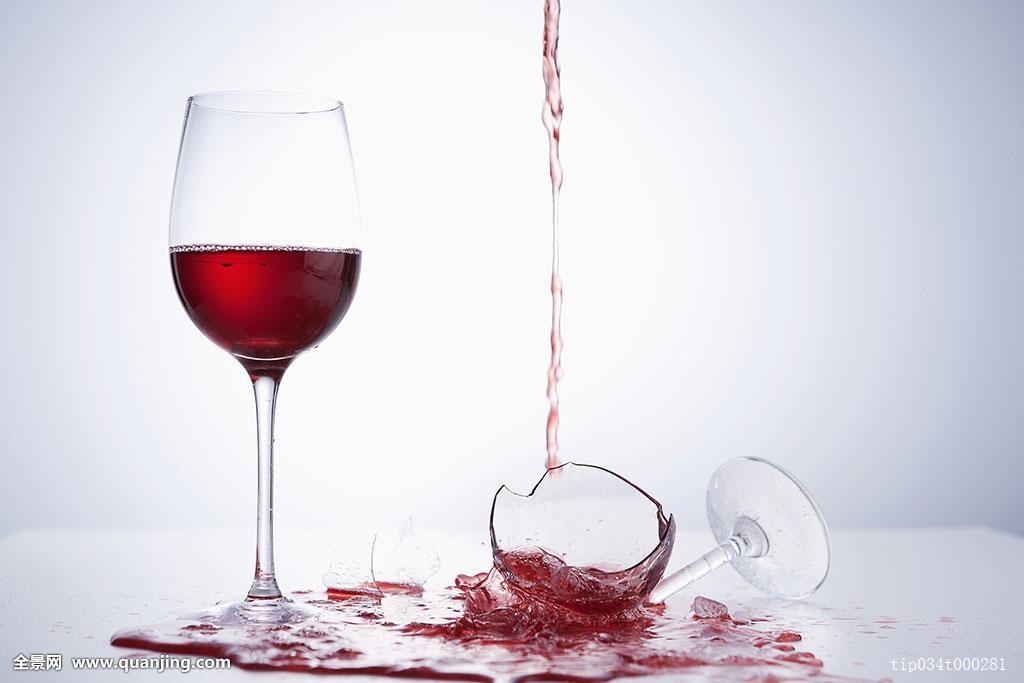 葡萄酒杯,落下,葡萄酒,碎玻璃图片
