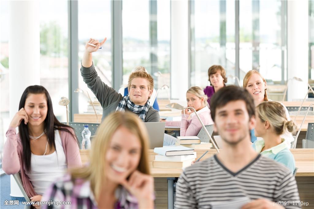 高中,学生,抬手图片