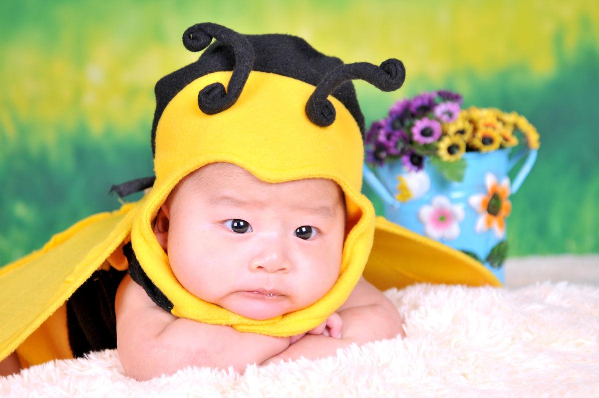 婴儿,百天照,孩子,新的生活,宝宝,新生儿,小宝贝图片