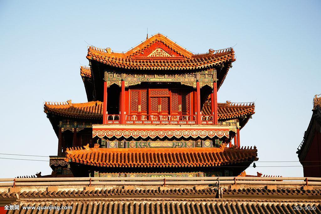 无人,横图,中国摄影师,摄影,彩色照片,雍和宫,宫殿,大殿,殿堂,寺院图片