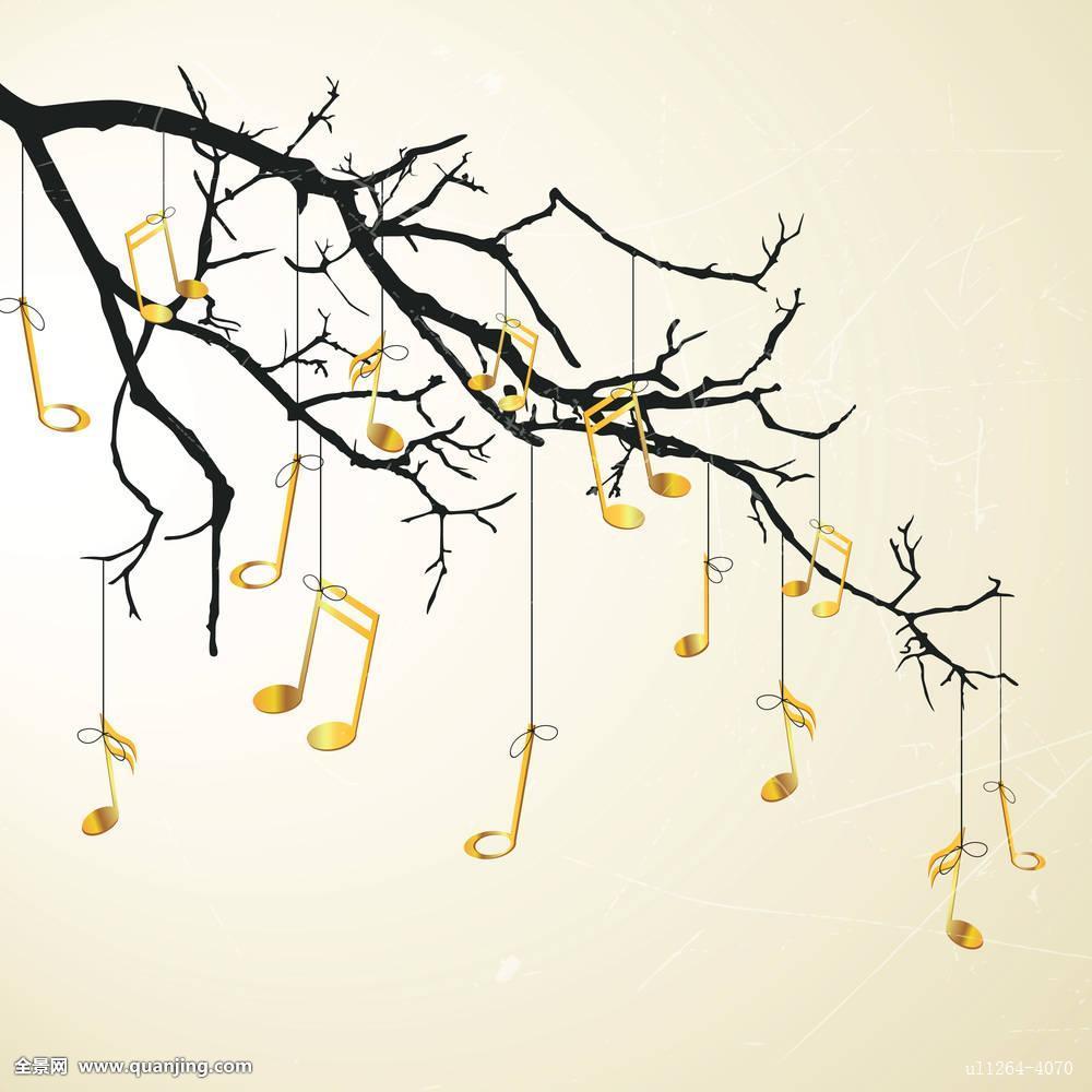 叶子,音乐,自然,记事本,装饰,复古,风景,春天,夏天,尾部,树,小提琴图片